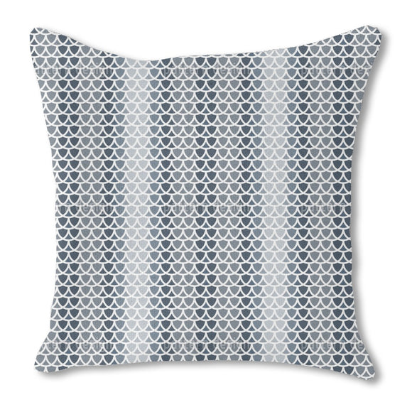 Overlapping Scale Outdoor Pillows