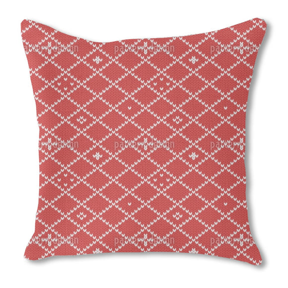 Christmas Knitting Outdoor Pillows