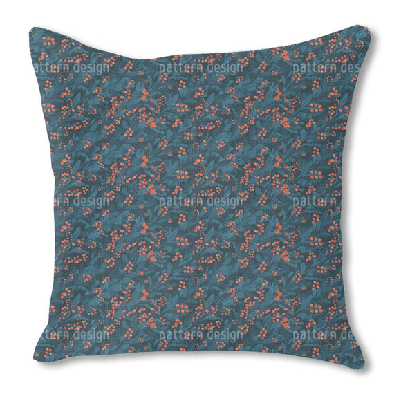 Berries And Florals Outdoor Pillows