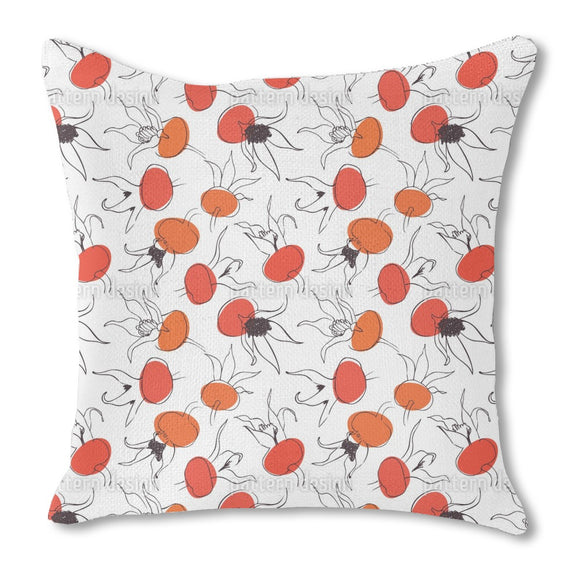 Scandi Rosehips Outdoor Pillows