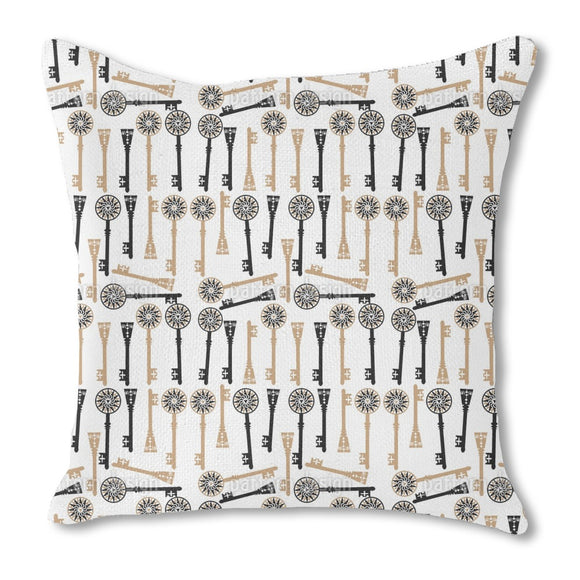 Vintage Keys Outdoor Pillows