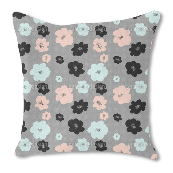 Mid Century Flowers Outdoor Pillows