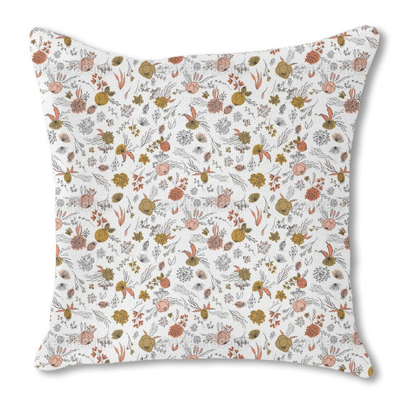 Sketched Flora Outdoor Pillows
