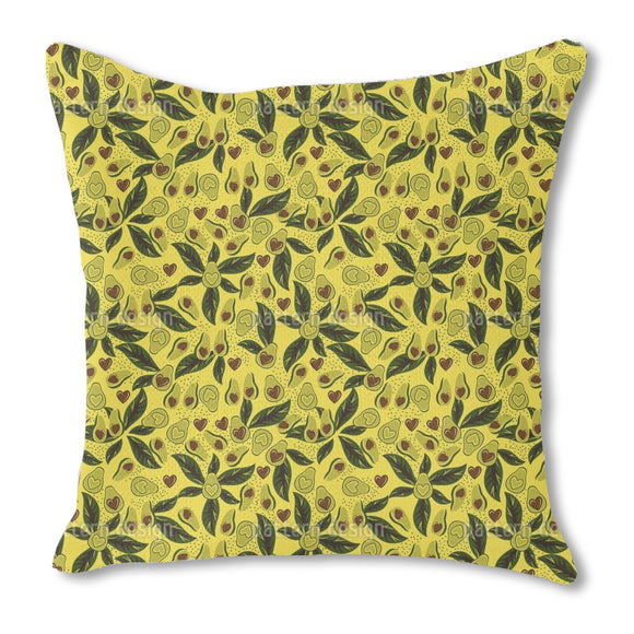Tropical Avocado Outdoor Pillows