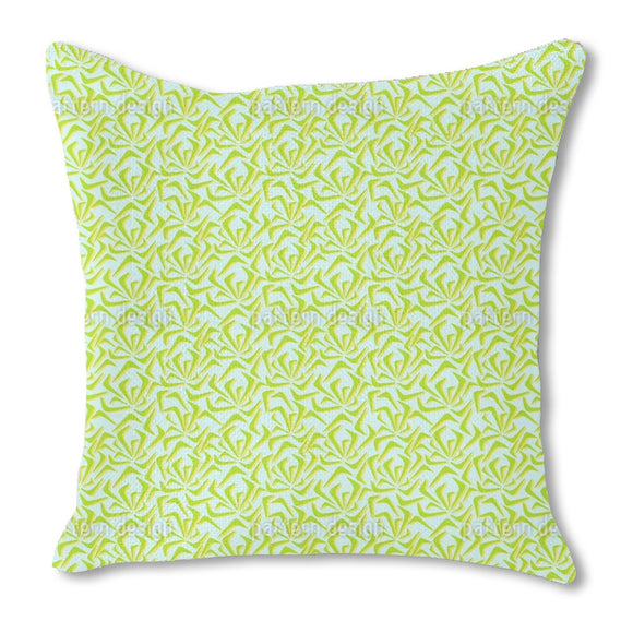 Abstract Summer Pond Outdoor Pillows
