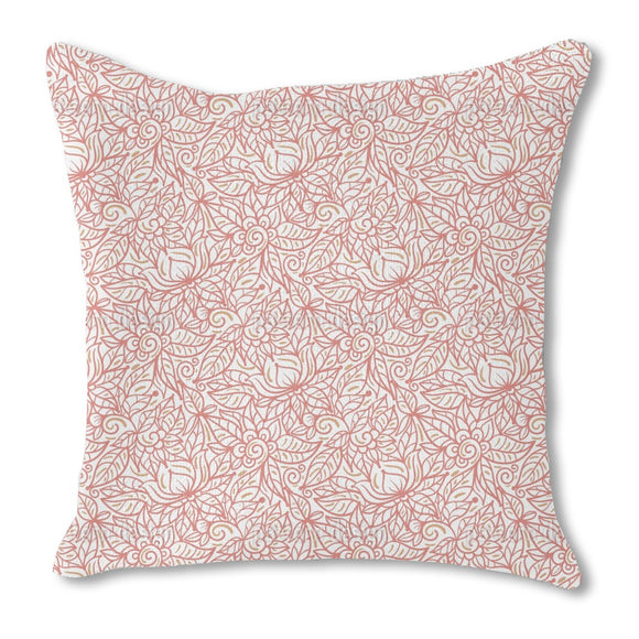 Leaves labyrinth Outdoor Pillows