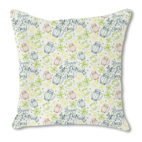 St Paddies Party Outdoor Pillows