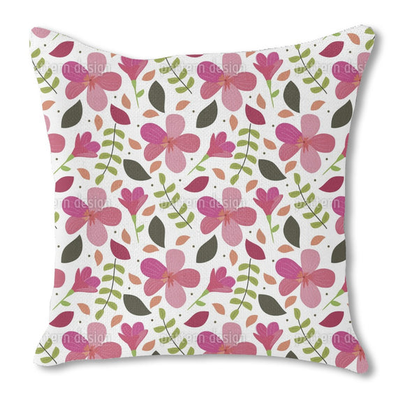 Delicate Blossoms And Petals Outdoor Pillows