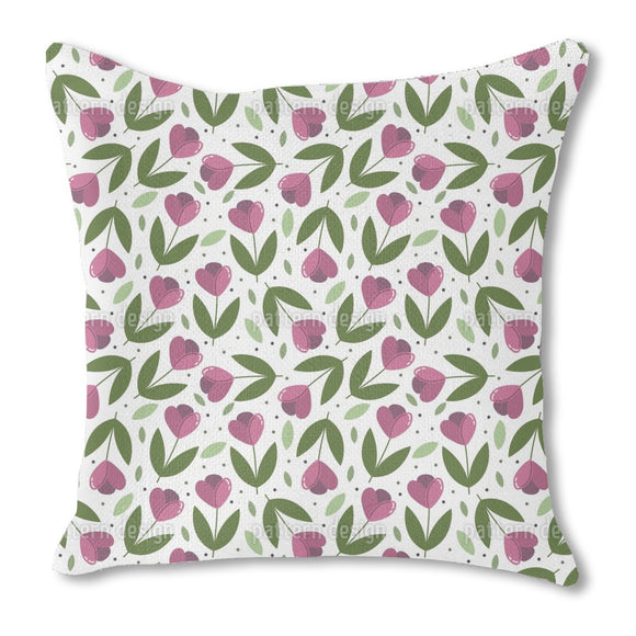 Throwing Tulips Outdoor Pillows