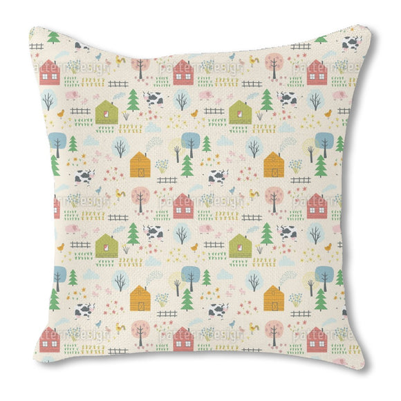 Farm Landscape Outdoor Pillows