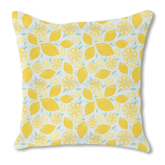 Fresh And Juicy Lemons Outdoor Pillows