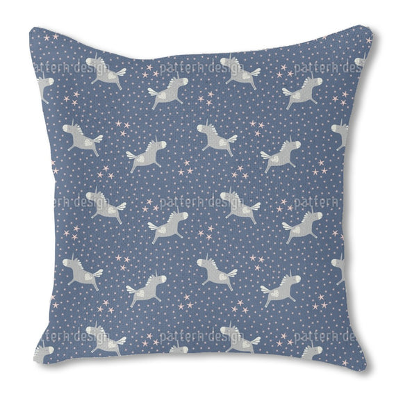 Unicorns And Stars Outdoor Pillows