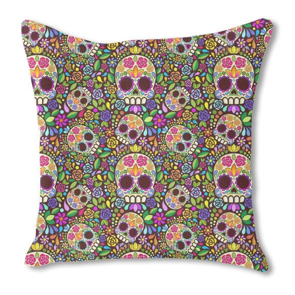 Mexican Skull Outdoor Pillows