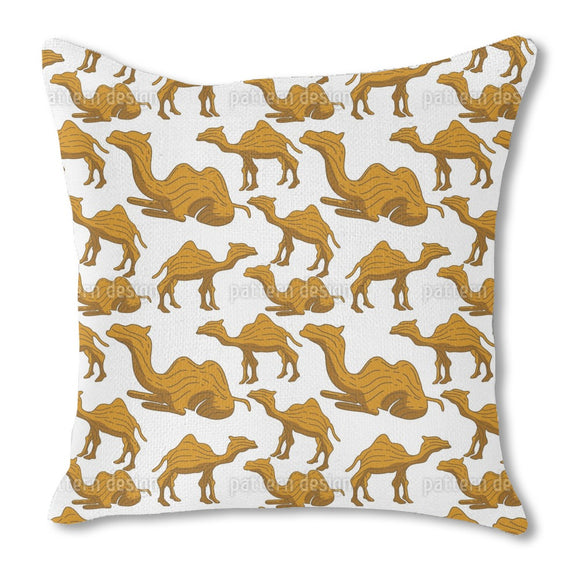Camel Woodcarving Outdoor Pillows