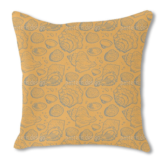 Seashell Gold Outdoor Pillows