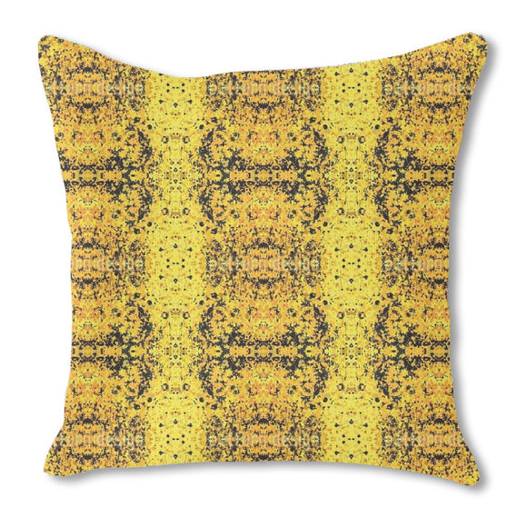 Stained Yellow Outdoor Pillows