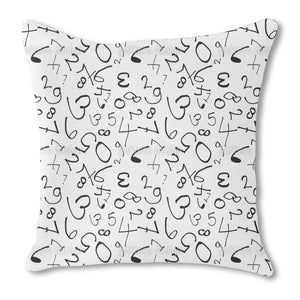 Counting Numbers Outdoor Pillows
