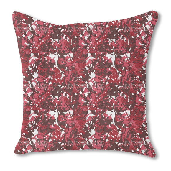 Camouflage Red Outdoor Pillows