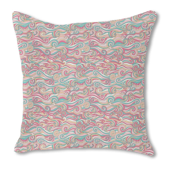 Sugar Sweet Curls Outdoor Pillows