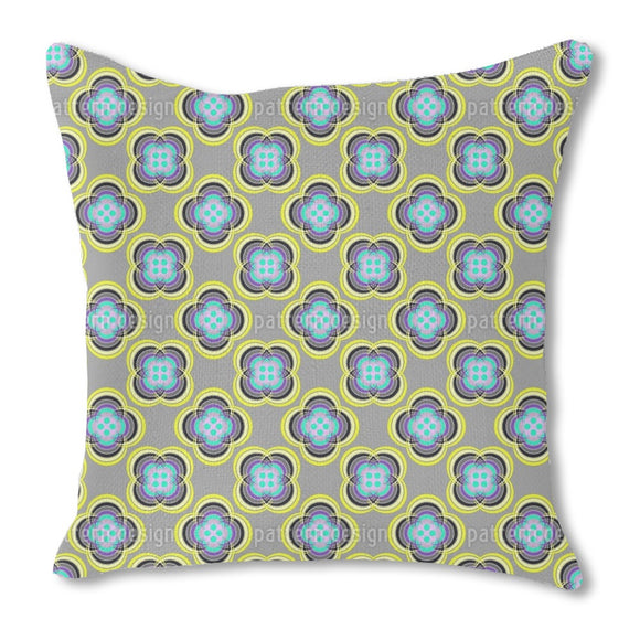 Button Flowers Outdoor Pillows