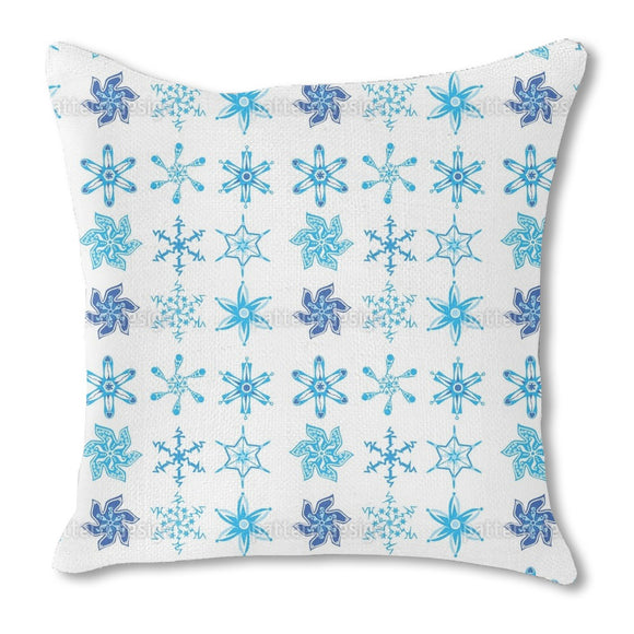 Snowflake Collection Outdoor Pillows