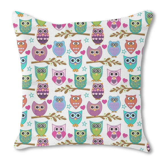 The Big Owl Assembly Outdoor Pillows