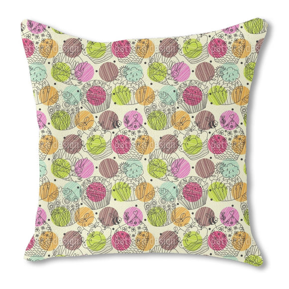 Cup Cake Fantasies Outdoor Pillows