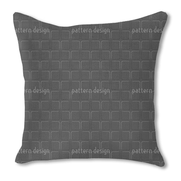 Squares In The Dark Outdoor Pillows