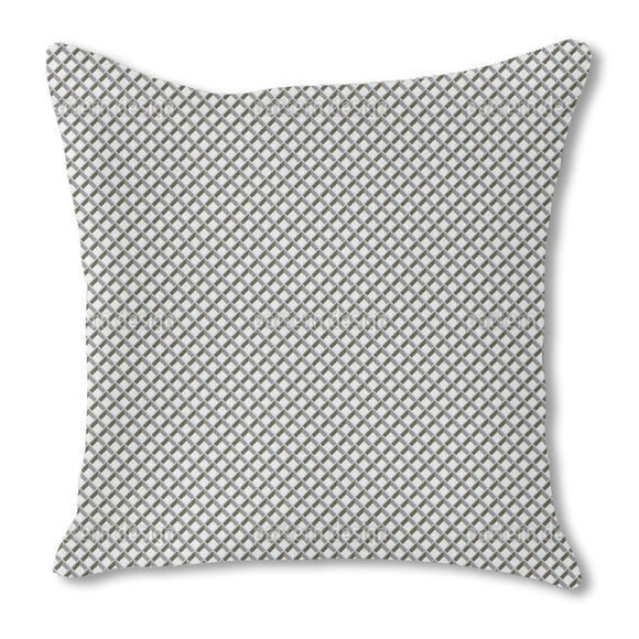 Metal Grid Outdoor Pillows