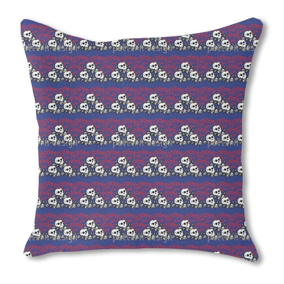 Skully Blue Outdoor Pillows