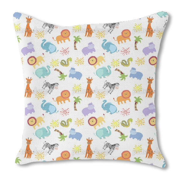 African Animals Outdoor Pillows