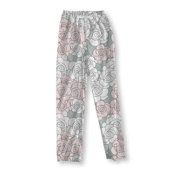 Rose Roses Pajama Pants