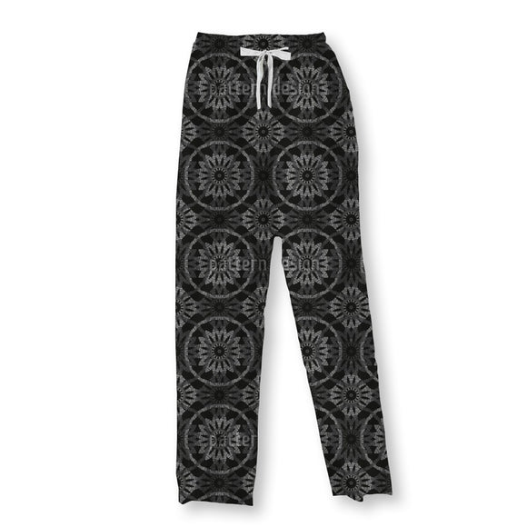 Static Flowers Pajama Pants