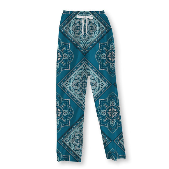 Tiled Indian Paisley Pajama Pants
