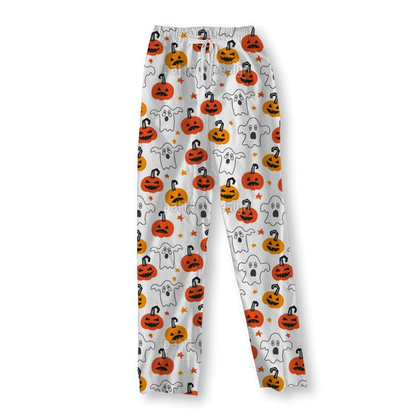 Scary Pumpkins And Ghosts Pajama Pants