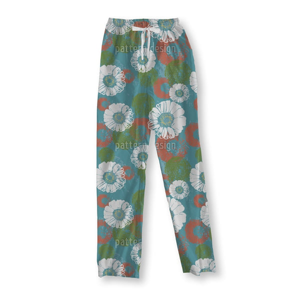 Stamped Blossoms Pajama Pants