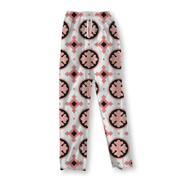 Stylized Leaf Tile Pajama Pants