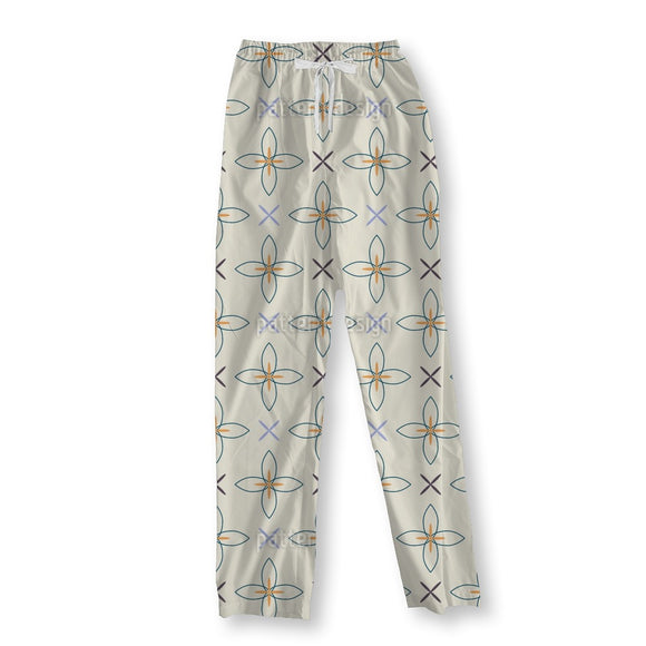 Floral Crosses Pajama Pants