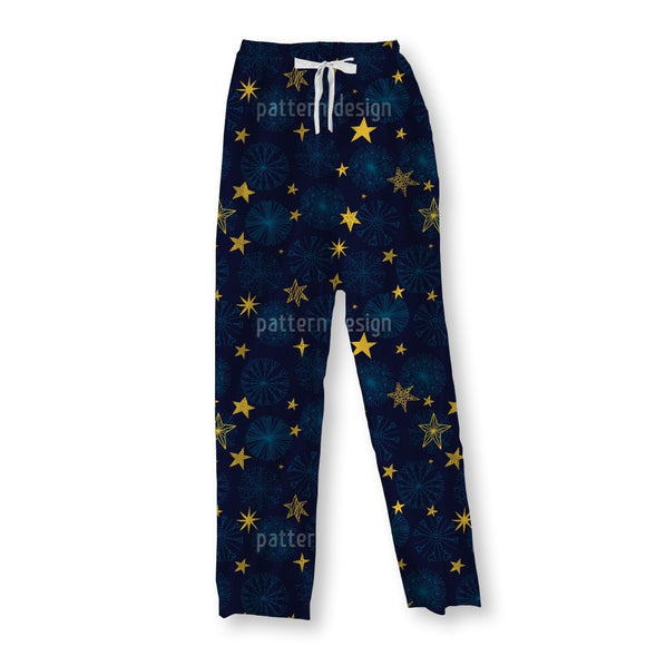 Snowflakes And Stars Pajama Pants