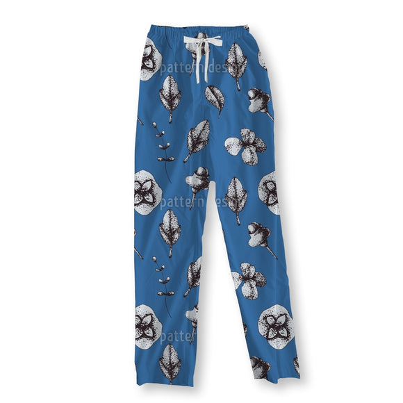 Dotwork Floral Pajama Pants