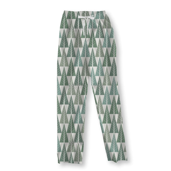 Stylized Winter Forest Pajama Pants