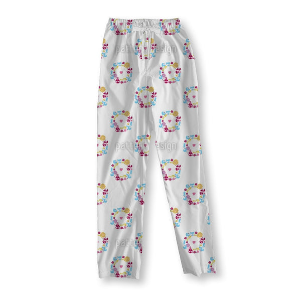 Cute Wreath Pajama Pants