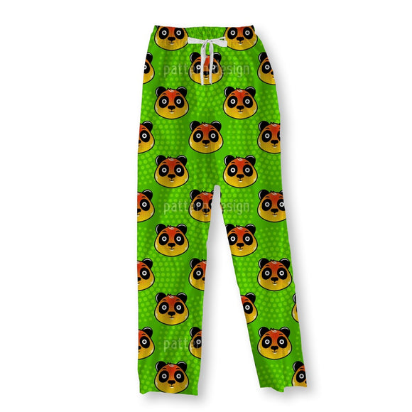 Panda Face Pajama Pants