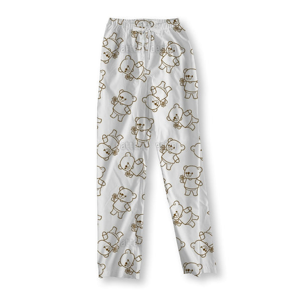 Funny Cartoon Bears Pajama Pants