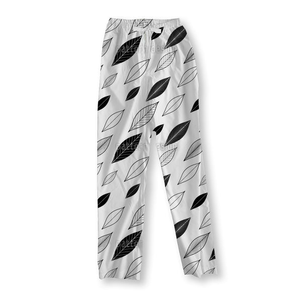 Diagonal Leaves Pajama Pants