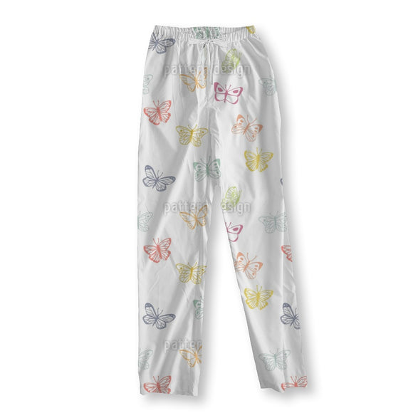 Butterfly Drawings Pajama Pants