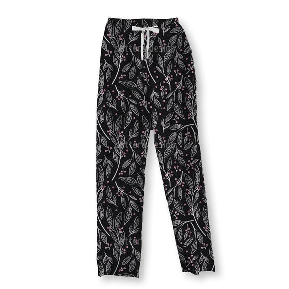 Delicate Berry Twigs Pajama Pants