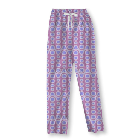 Alien Crocodile Flowers Pajama Pants