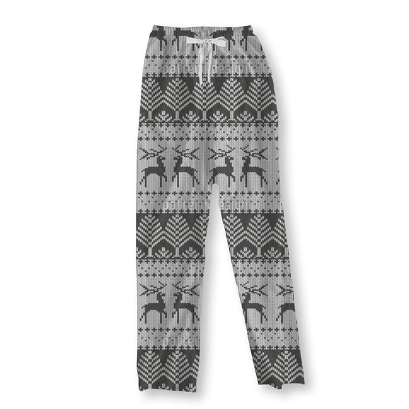 Knitted Winter Pajama Pants