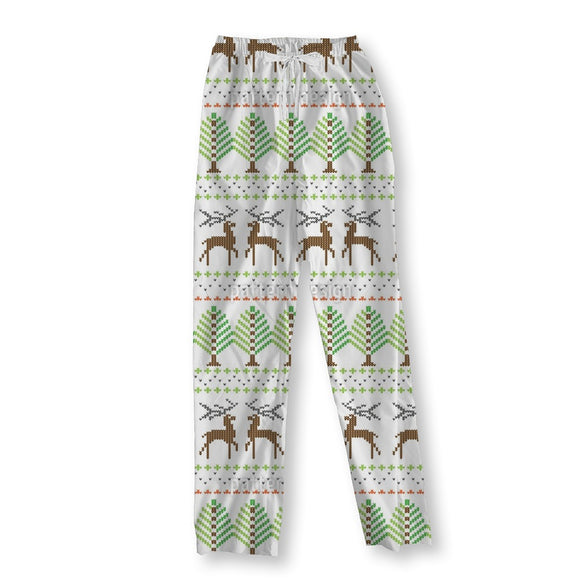 Nordic Knitting Pajama Pants